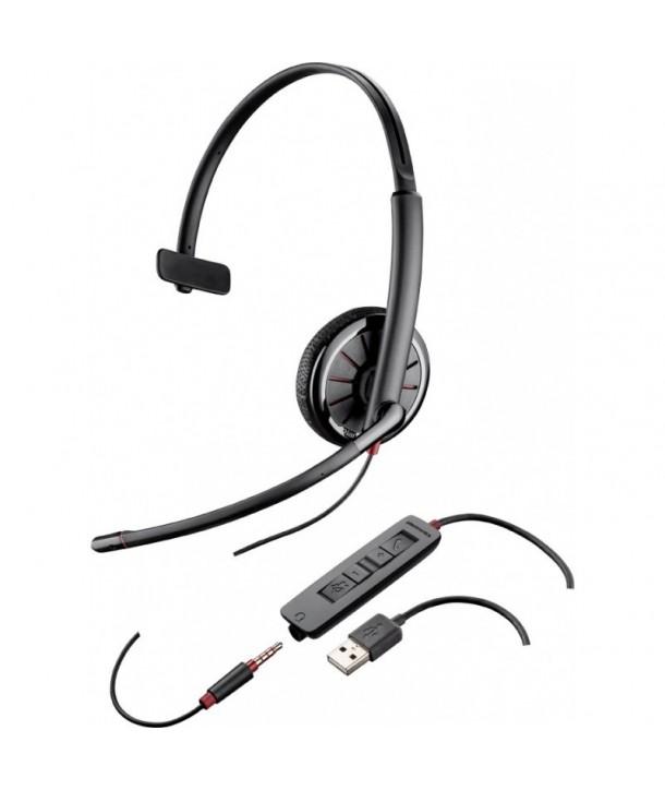 Plantronics 204440-01 Blackwire 315.1-M Auricular con Cable USB y conexión 3,5 mm Monoaural