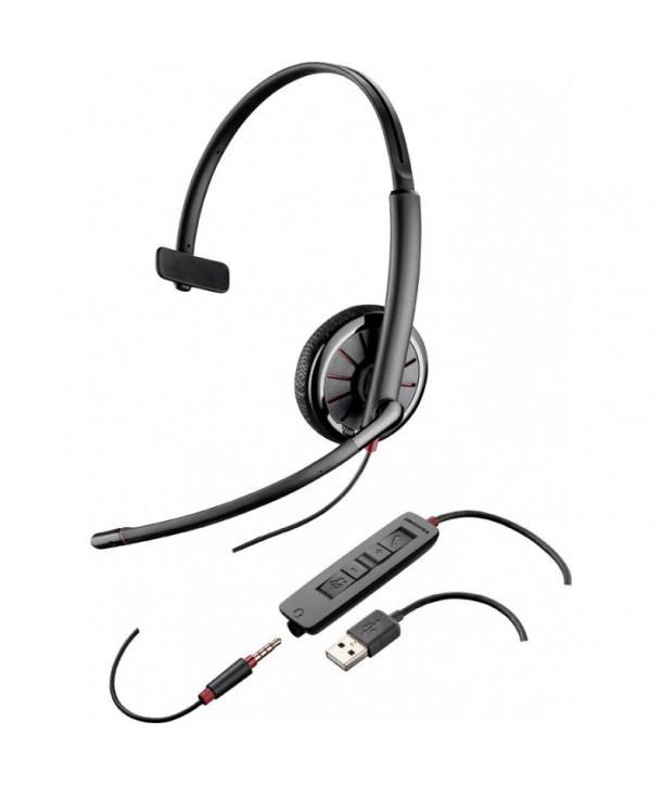 Plantronics Blackwire 315.1-M Auricular con Cable USB y conexión 3,5 mm Monoaural