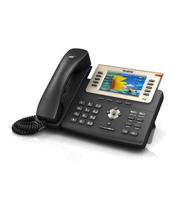 Yealink SIP-T29G Teléfono SIP color, 16 cuentas SIP, PoE
