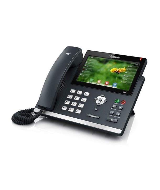 Yealink T48G Teléfono SIP, 6 cuentas SIP, PoE