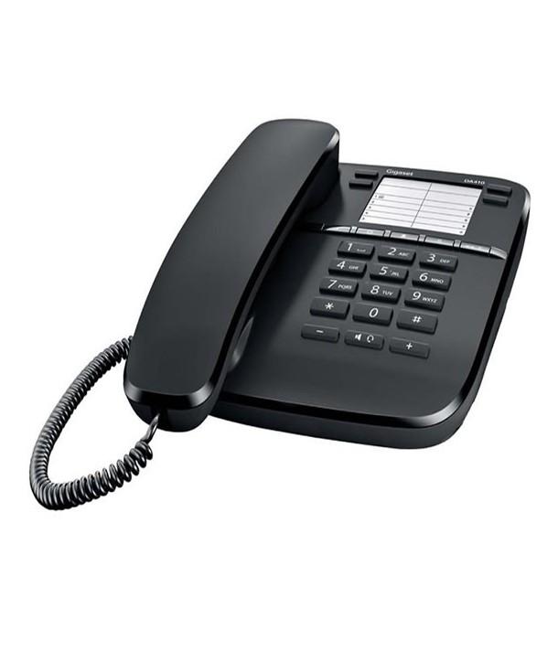 Gigaset DA410 Teléfono analógico, manos libres. Negro