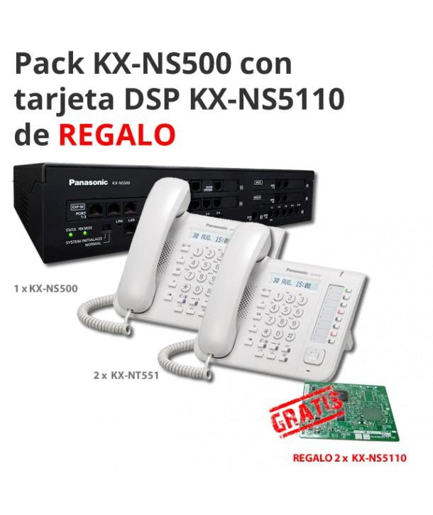 Pack KX-NS500 con 2 terminales NT551NE y tarjeta DSP de REGALO