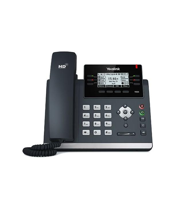 Yealink T42S Teléfono SIP, 3 cuentas SIP, PoE