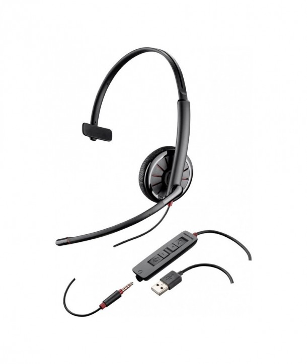 Plantronics Blackwire 315.1 Auricular con Cable USB y conexión 3,5 mm Monoaural