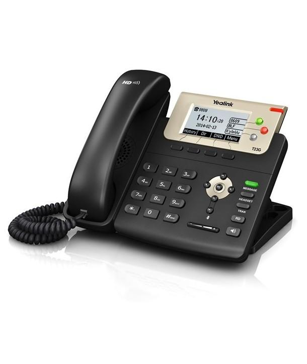 Yealink T23P Teléfono SIP con pantalla, Gigabit, PoE, 3 cuentas SIP