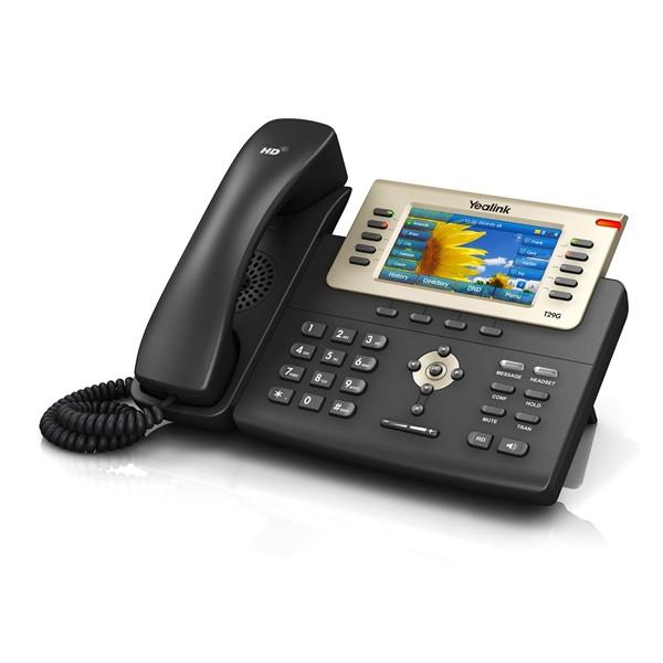 Yealink SIP T29G Teléfono SIP color, 16 cuentas SIP, PoE
