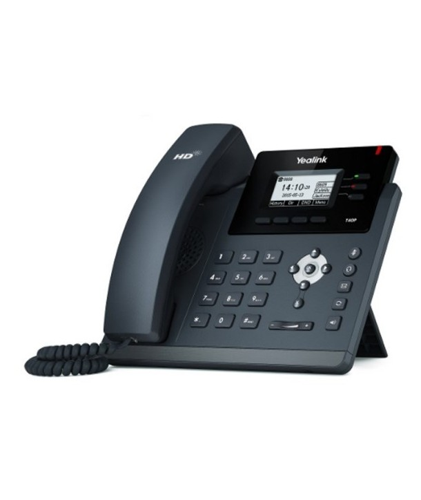 Yealink SIP-T40P Teléfono SIP, 3 cuentas SIP, PoE