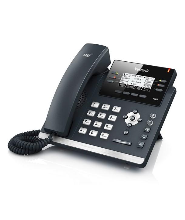 Yealink T42G Teléfono SIP, 3 cuentas SIP, PoE