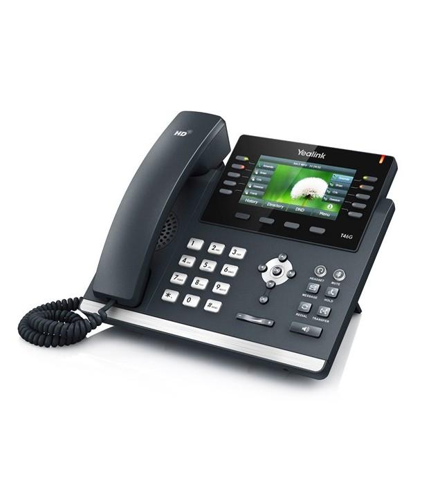 Yealink T46G Teléfono SIP color, 6 cuentas SIP, PoE