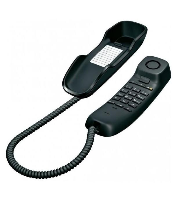 Gigaset DA210 Teléfono analógico para pared. Negro