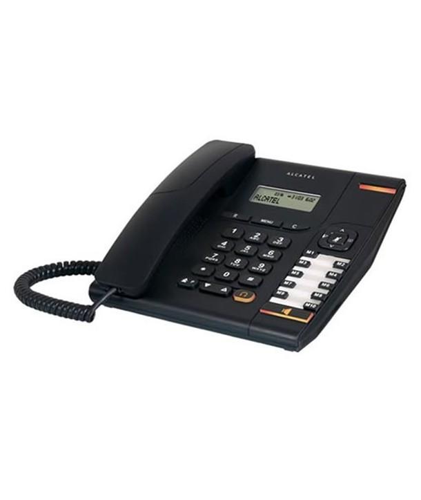 Alcatel Temporis 580 Teléfono analógico con pantalla, manos libres y toma para auricular. Negro