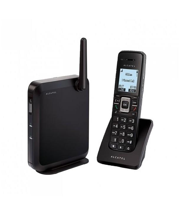 Alcatel IP2015 Solución DECT SIP con base independiente, 6 cuentas SIP y hasta 4 llamadas simultaneas