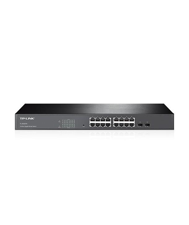 TP-Link TL-SG2216 Switch Smart, 16 puertos Gb, 16 x RJ45 10/100/1000Mbps, 2 ranuras SFP Combo SFP