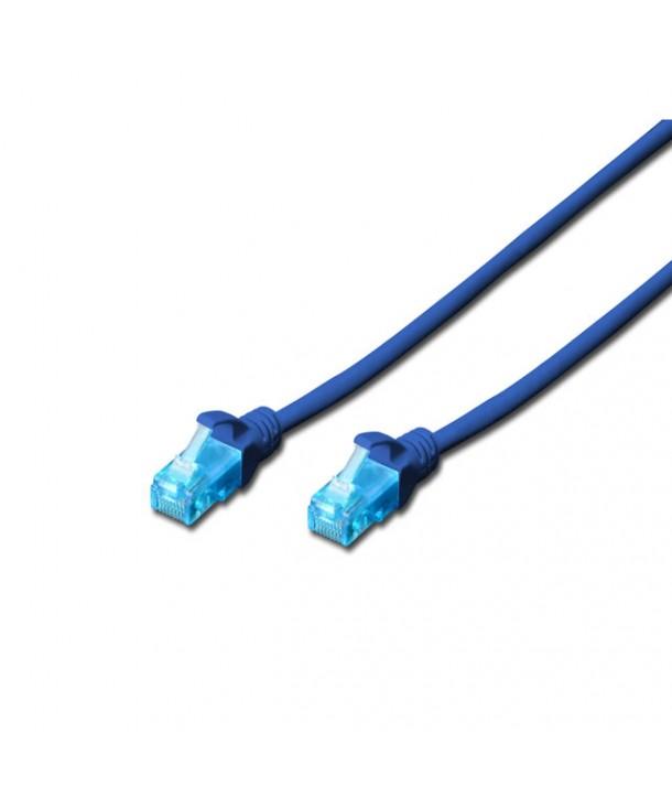 Digitus DK-1511-010/B Latiguillo UTP CAT. 5e flexible 1 metro color AZUL