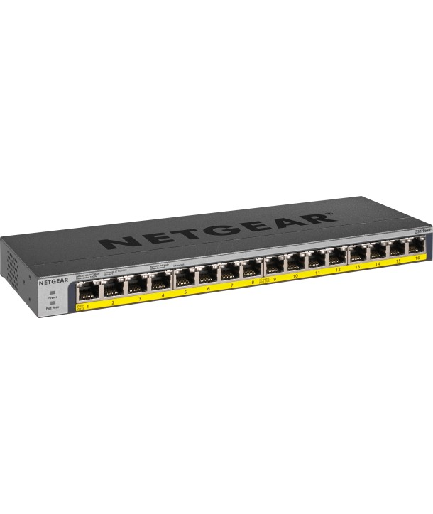 16-Port PoE/PoE+ Gigabit Ethernet Switch