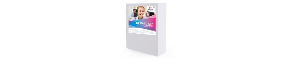 Recall SIP (Soporta codecs G.711, G.723, G.729)