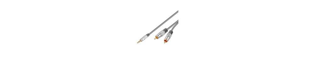 Cables y adaptadores Jack-RCA